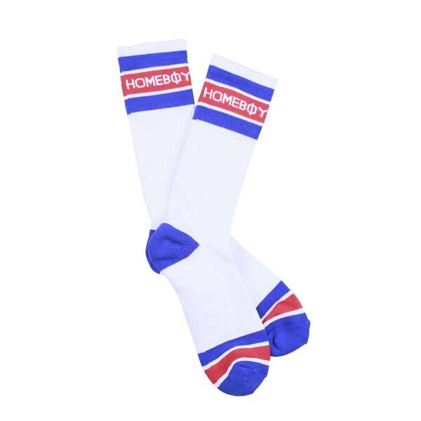 Socken | 2er Pack STRIPE Sock - White - 36-38 | HOMEBOY