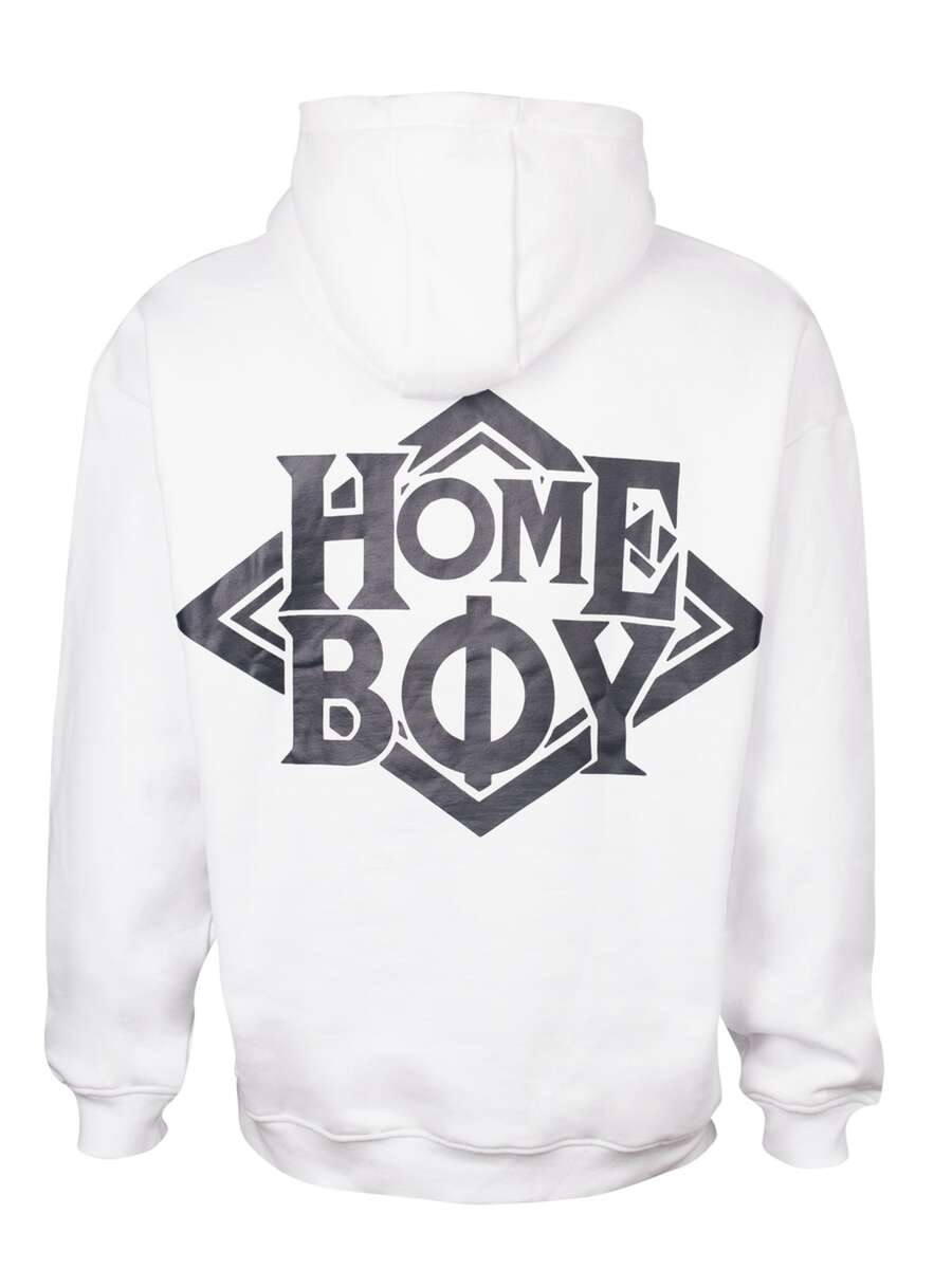 Pullover / Sweatshirt Oversize | THE BIGGER HOMIE Hood - White - L | HOMEBOY