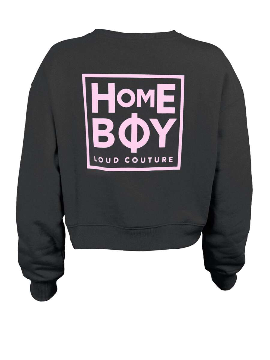 Pullover/Sweatshirt | HAILY Sweat Crew Neck BLACK | XS | HOMEBOY