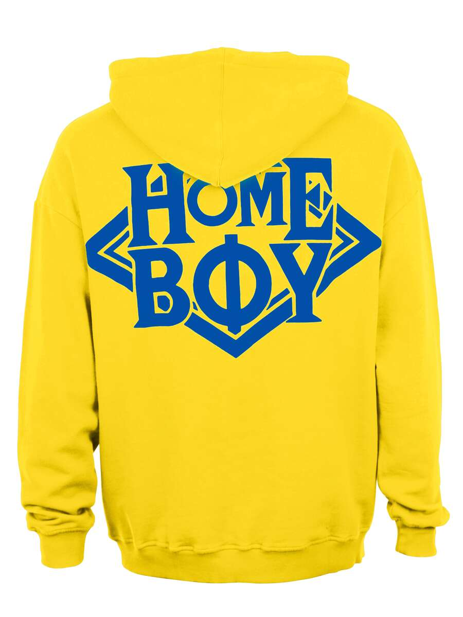 Pullover / Sweatshirt Oversize | THE BIGGER HOMIE HOOD YELLOW | XXL | HOMEBOY