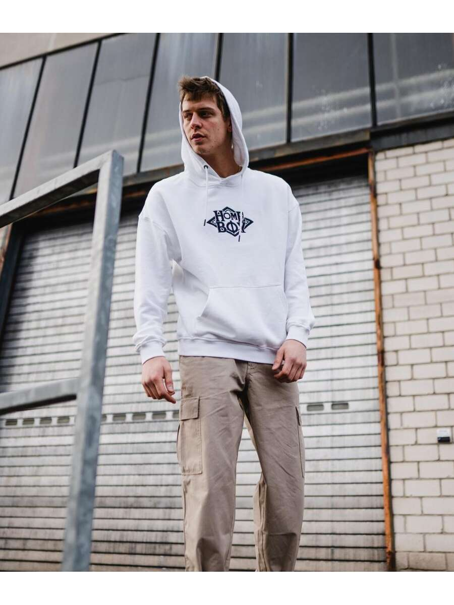 Pullover / Sweatshirt Oversize | NOTORIOUS HOOD WHITE | S | HOMEBOY
