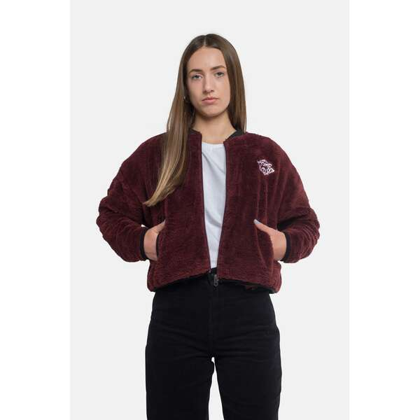 Fleece Jacke | POODLE Fleece | HOMEBOY-Bordeaux