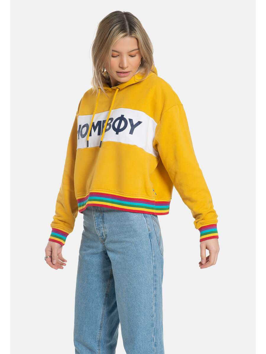 Pullover/Sweatshirt | RAINBOW Sweat Hood Gold | HOMEBOY