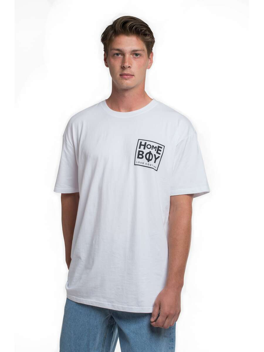 T-Shirt | THE BIGGER HOMIE Tee White-Black | XXL | HOMEBOY
