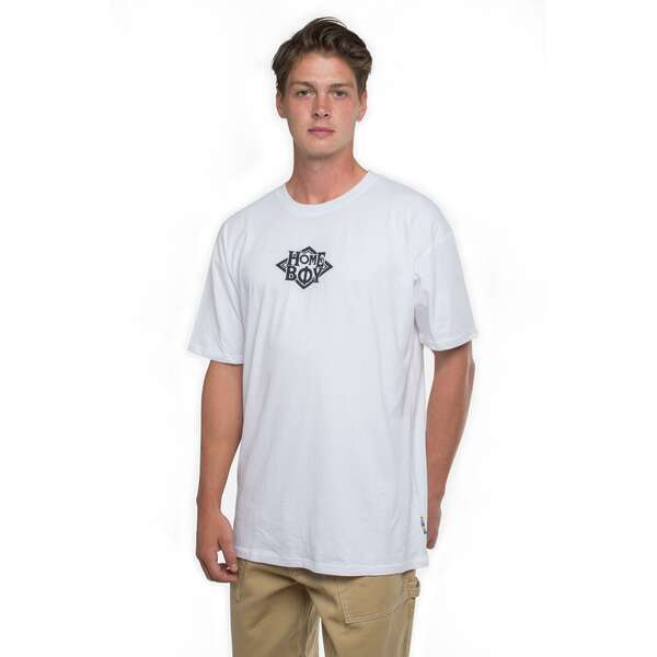 T-Shirt | THE BIGGER HOMIE Tee White-Black | L | HOMEBOY