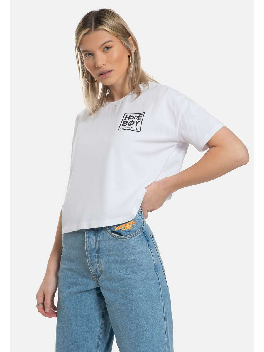 CATE Tee White-Black | S | HOMEBOY