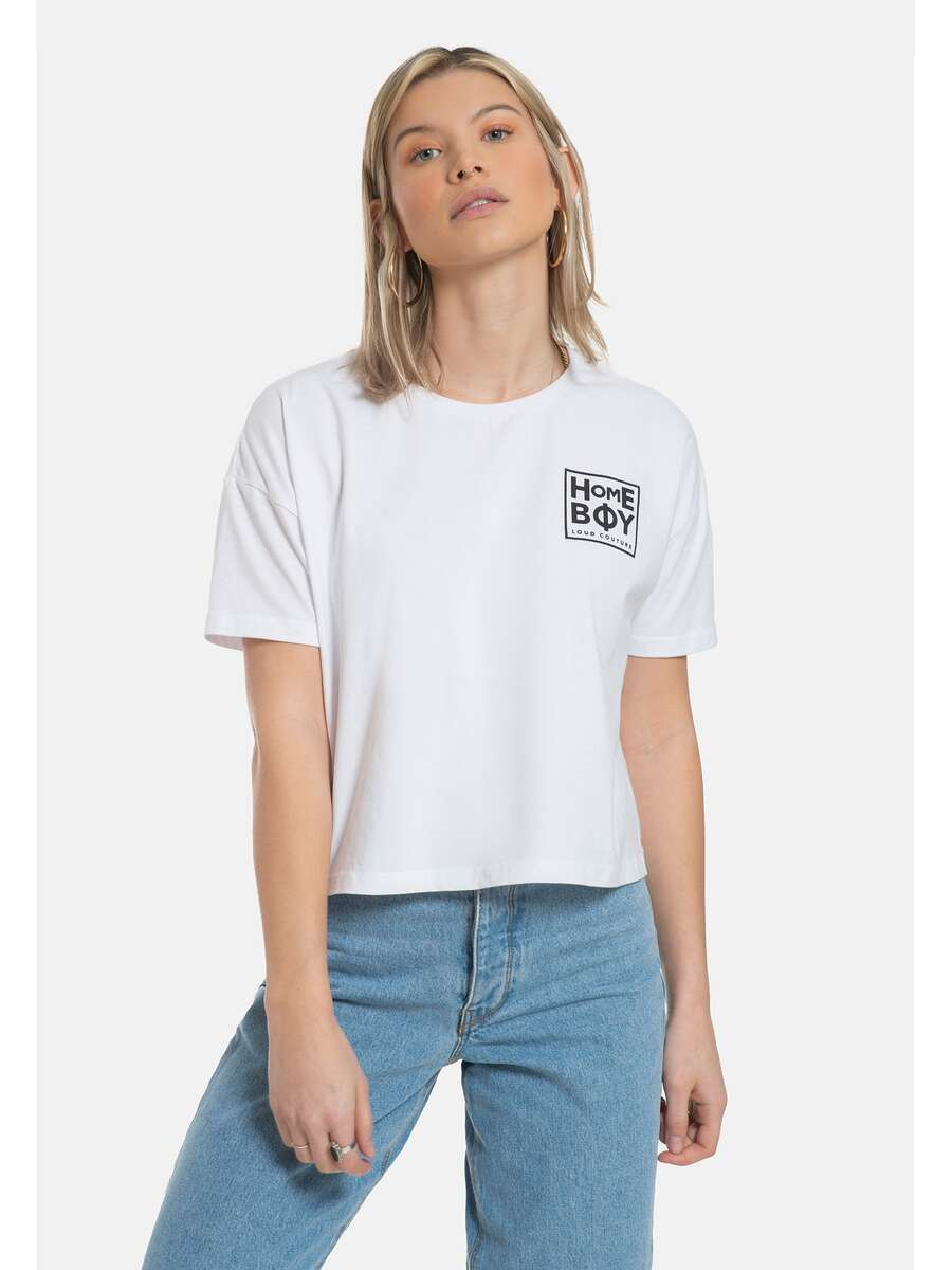 CATE T-Shirt White-Black | HOMEBOY