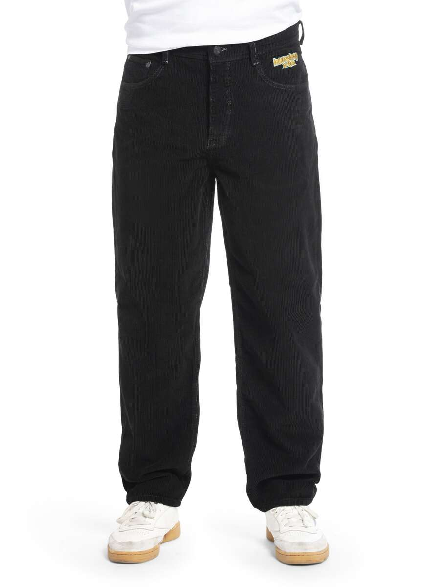 x-tra BAGGY CORD Pants Black