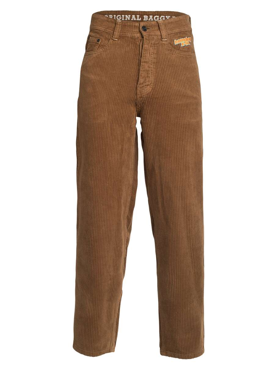 x-tra BAGGY CORD Pants Brown