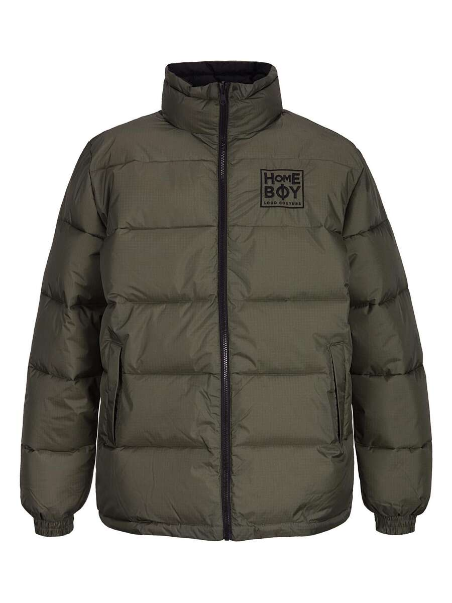 HARVEY DENT Jacket Olive | HOMEBOY Daunen Jacke