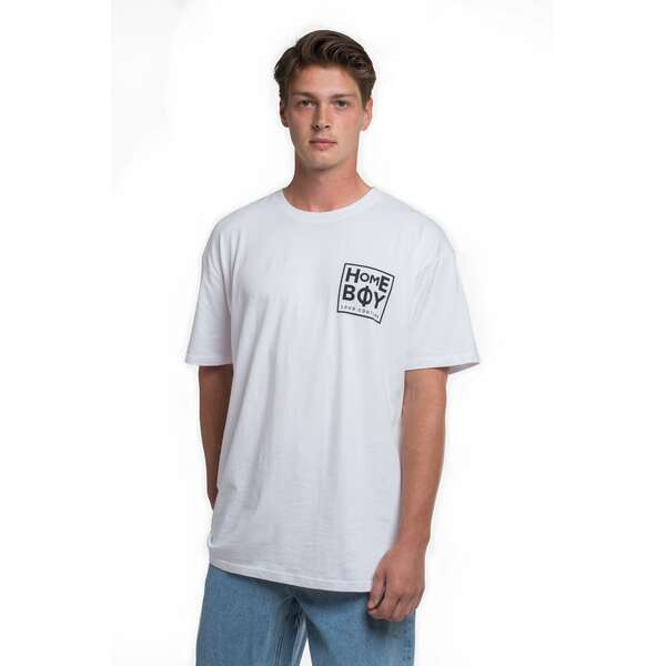 T-Shirt | THE BIGGER HOMIE Tee White-Black | HOMEBOY