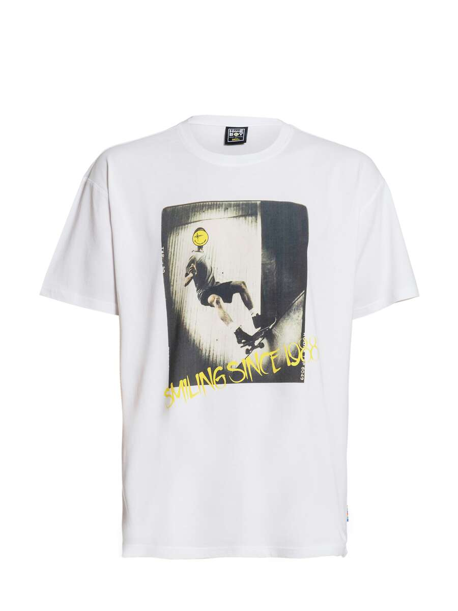 Noah - THE BIGGER HOMIE Tee White - Smiley Collaboration