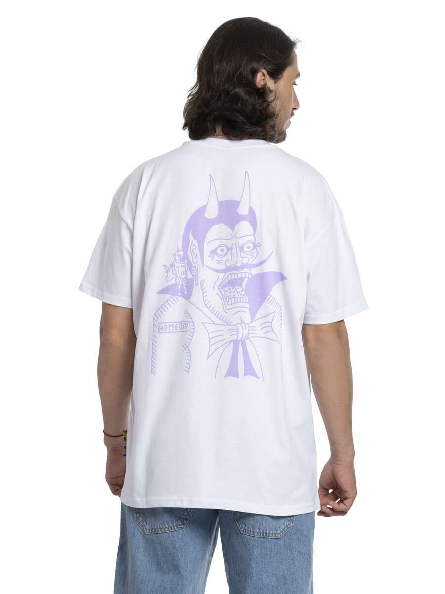 Devil | THE BIGGER HOMIE Tee White | XS | HOMEBOY