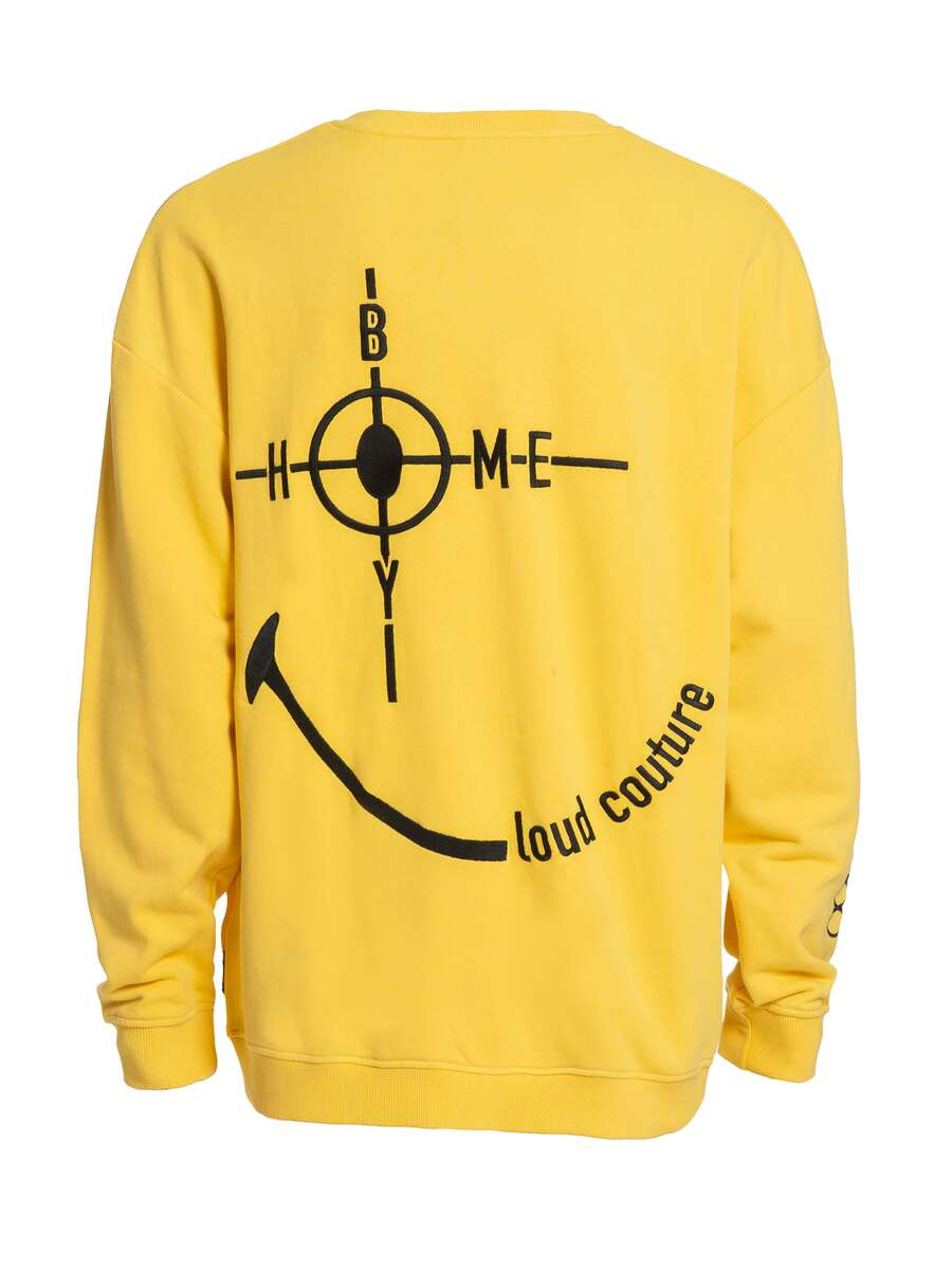 Sweatshirt | THE BIGGER HOMIE Crew Yellow | XS | HOMEBOY