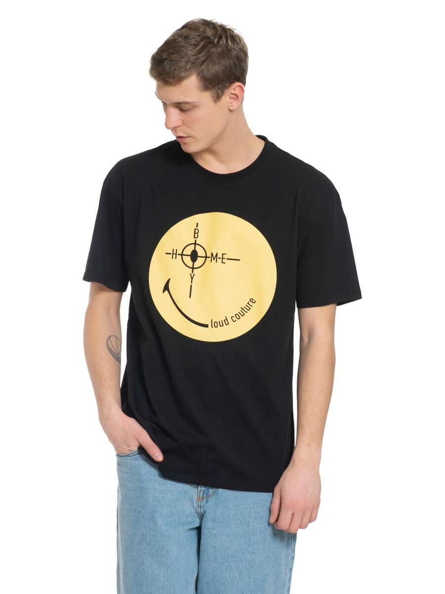 Target - THE BIGGER HOMIE Tee Black - Smiley Collaboration