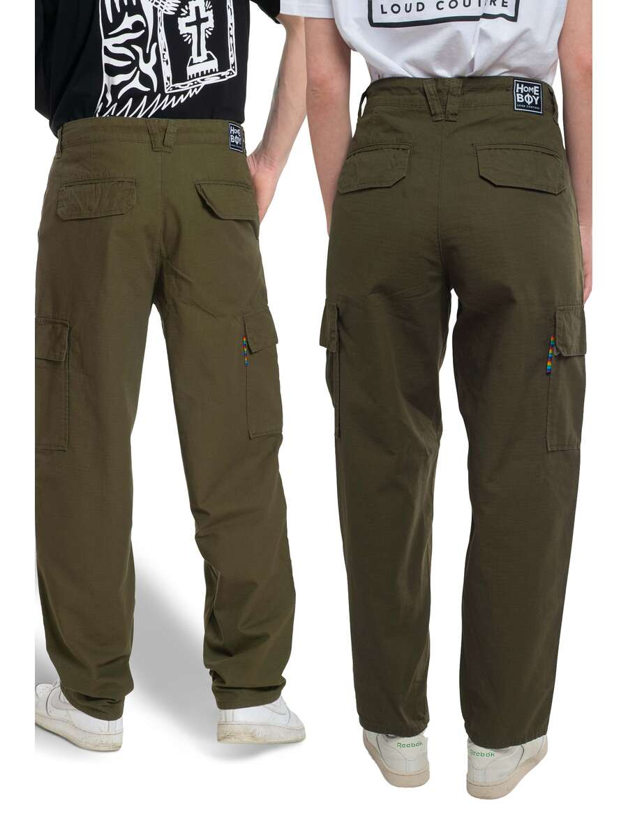 Baggy Pant | X-TRA CARGO PANT Olive | HOMEBOY 33 L32