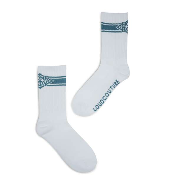 NAPPO STRIPE Sock WHITE
