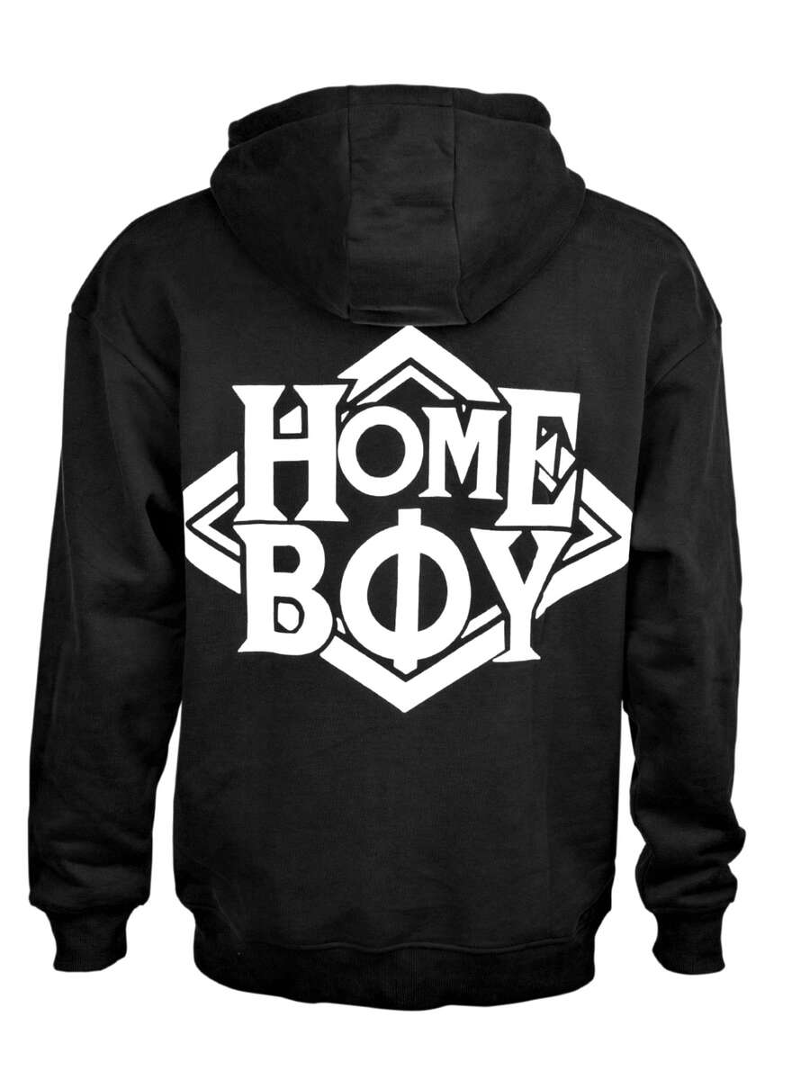 Pullover/Sweatshirt Oversize | THE BIGGER HOMIE Hood Black | HOMEBOY